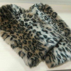 Leopard Print Faux Furs Leg Warmers Boot Cover OS